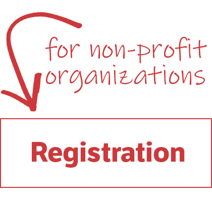 Button: click here for non-profit organization registration.